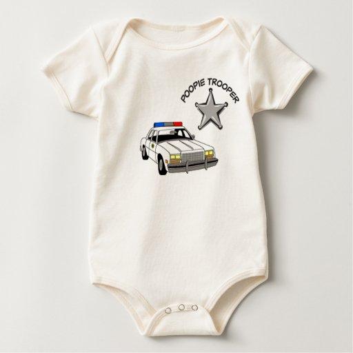 Policía de Poopie - enredadera para los niños Mameluco