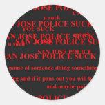 policía de San Jose Pegatina Redonda