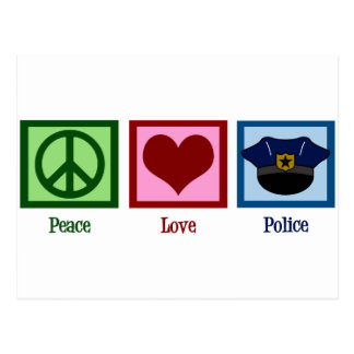 Policía del amor de la paz tarjetas postales
