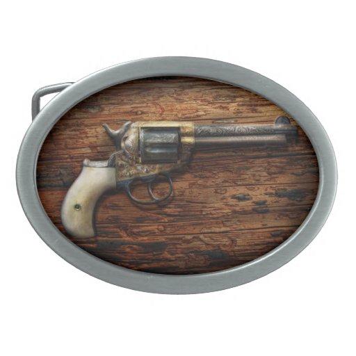 Policía del arma - arena verdadera hebillas de cinturón