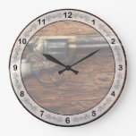 Policía del arma - arena verdadera reloj de pared