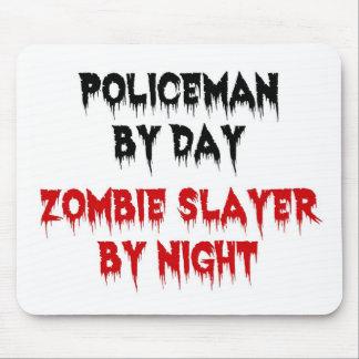Policía del asesino del zombi del día por noche alfombrilla de raton