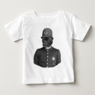 Policía del dogo francés del vintage playera de bebé