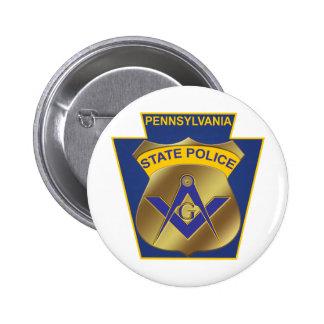 Policía del estado de Pennsylvania Pin Redondo De 2 Pulgadas