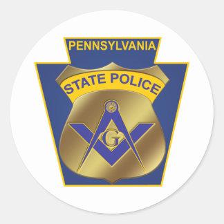 Policía del estado de Pennsylvania Etiquetas Redondas