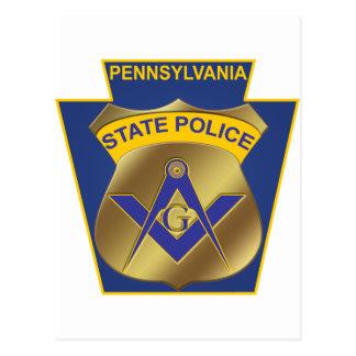 Policía del estado de Pennsylvania Tarjeta Postal