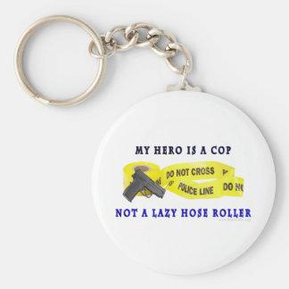 Policía del héroe del POLI Llaveros Personalizados