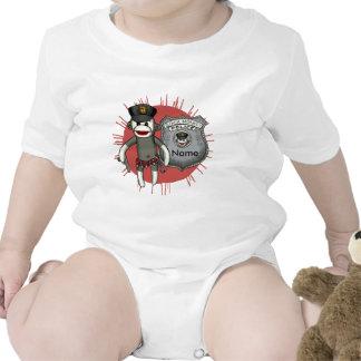 Policía del mono del calcetín trajes de bebé