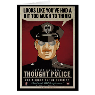 Policía del pensamiento tarjeta de felicitación