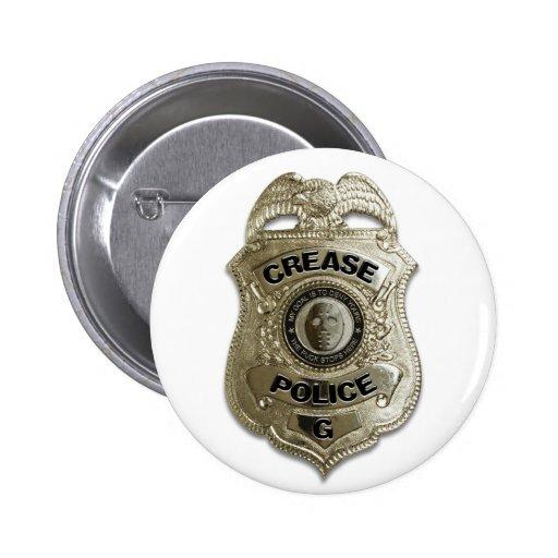 Policía del pliegue pin