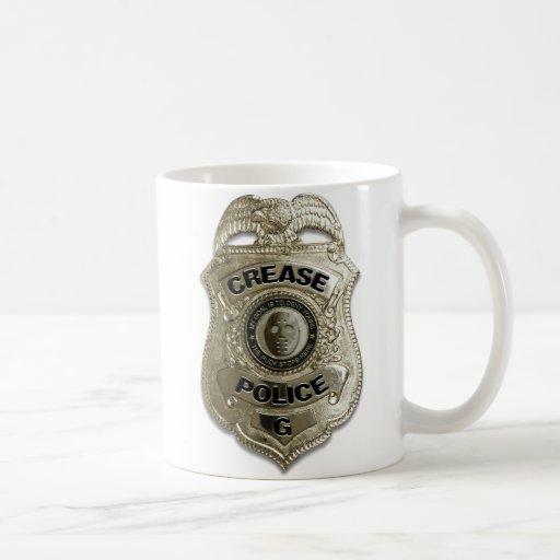 Policía del pliegue (portero del hockey) taza de café