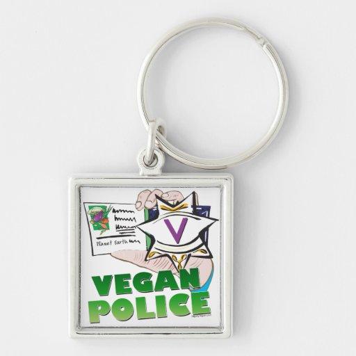 Policía del vegano llavero