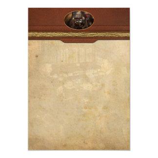 """Policía - el detective privado - 1902 invitación 5"""" x 7"""""""