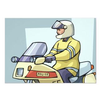 """Policía en invitaciones de una moto invitación 5"""" x 7"""""""