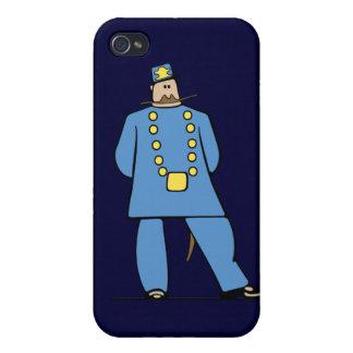 Policía en uniforme iPhone 4 carcasas