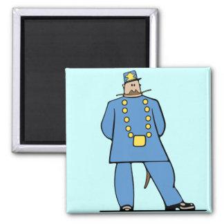 Policía en uniforme imanes de nevera
