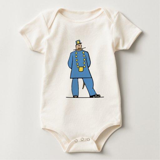 Policía en uniforme trajes de bebé
