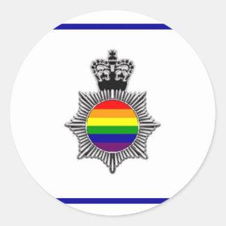 Policía gay asoc., Reino Unido Pegatina Redonda