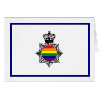 Policía gay asoc., Reino Unido Tarjeta De Felicitación