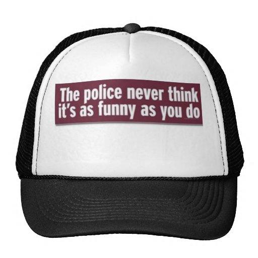 policía gorras