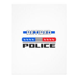 Policía jubilada membretes personalizados