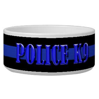 Policía K9 - Blue Line fino Comedero Para Mascota
