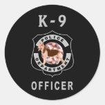 Policía K9 Etiquetas Redondas