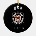 Policía K9 Ornaments Para Arbol De Navidad