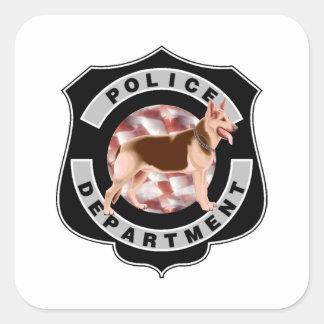 Policía K9 Pegatina Cuadrada