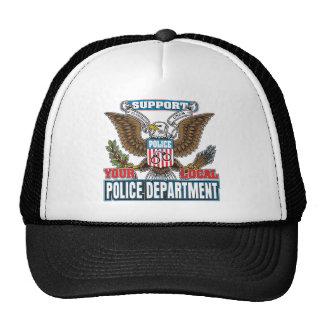 Policía local de la ayuda gorras