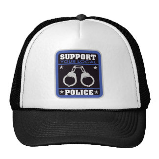 Policía local de la ayuda gorros bordados