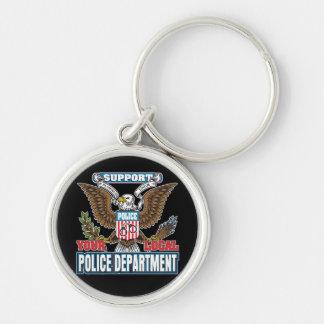 Policía local de la ayuda llaveros personalizados