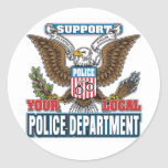 Policía local de la ayuda pegatina