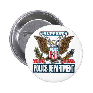 Policía local de la ayuda pins
