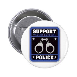 Policía local de la ayuda pin redondo 5 cm