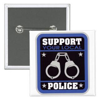 Policía local de la ayuda pin cuadrada 5 cm