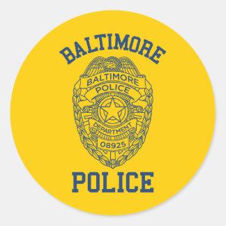 Policía Maryland de Batimore Pegatina Redonda