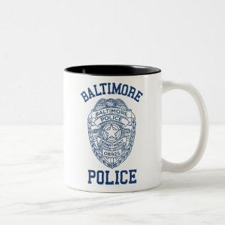 Policía Maryland de Batimore Taza De Dos Tonos