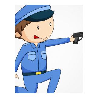 Policía Membretes Personalizados