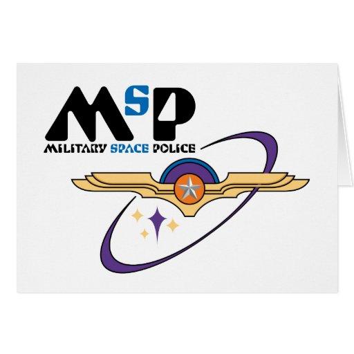 Policía militar del espacio tarjeta de felicitación