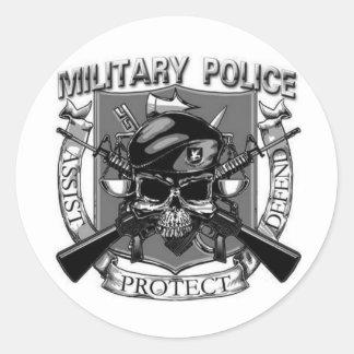 Policía militar pegatinas redondas