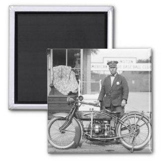 Policía Motorcycle, 1922 de Henderson Imán Cuadrado