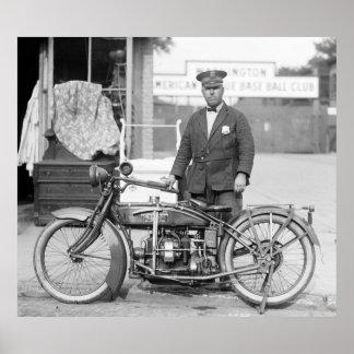 Policía Motorcycle, 1922 de Henderson Póster