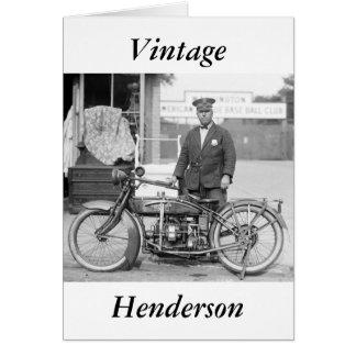 Policía Motorcycle, 1922 de Henderson Tarjeta De Felicitación