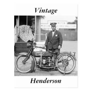 Policía Motorcycle, 1922 de Henderson Tarjetas Postales