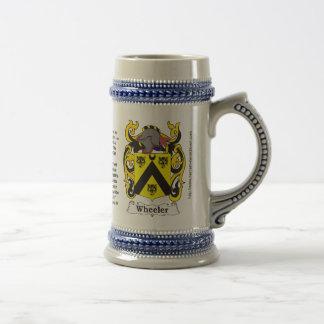 Policía motorizado del escudo de armas de la famil taza de café