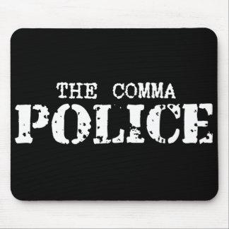 Policía Mousepad de la coma