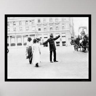 Policía NYC 1911 del pelotón del tráfico Posters