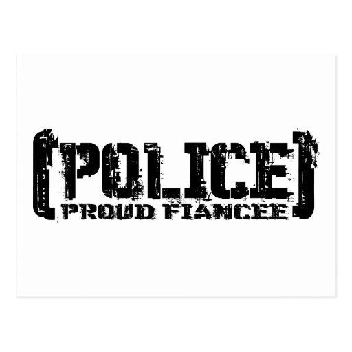 POLICÍA orgullosa del Prometido hecha andrajos Postal