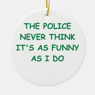 policía adorno